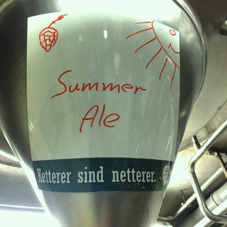 Liegt das Summer Ale im Tank…